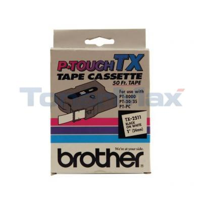 BROTHER P-TOUCH TAPE BLACK/WHITE (24 MM X 50 M)